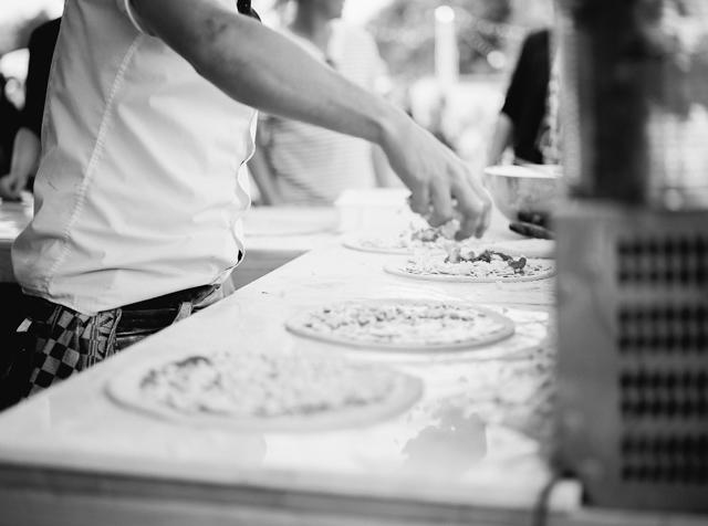 old scuola pizza food truck festival bruiloft