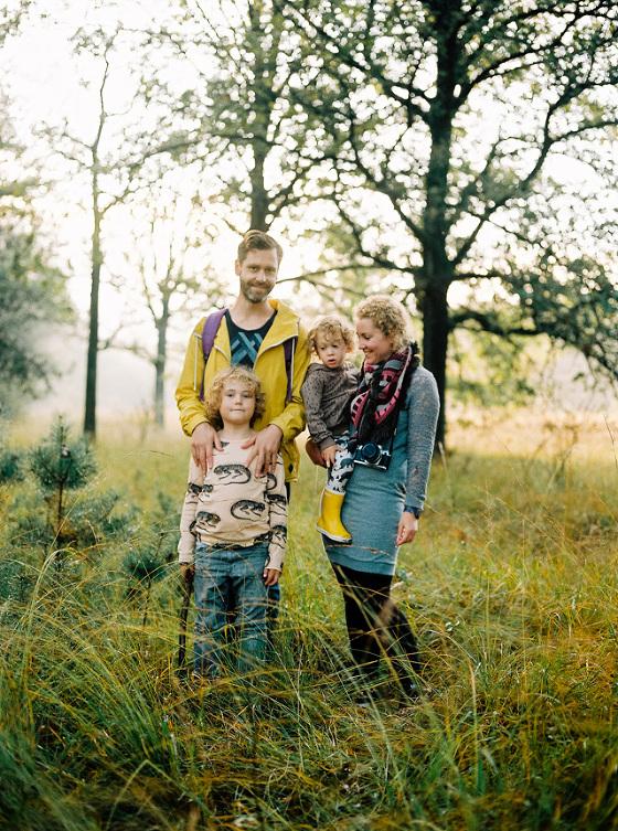 zilverblauw fotoshoot familie
