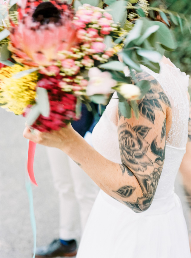 forest wedding tattoo bride groom hanke arkenbout