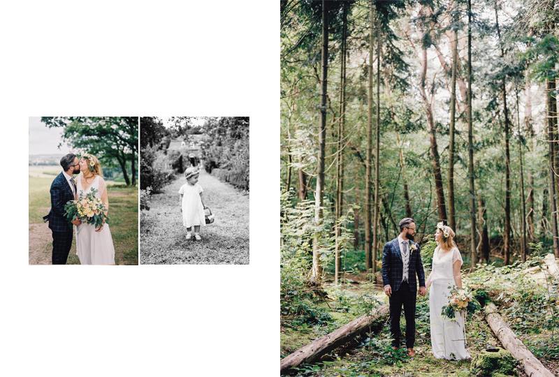 bruiloft bos buiten intiem fotografie bohemian hippie