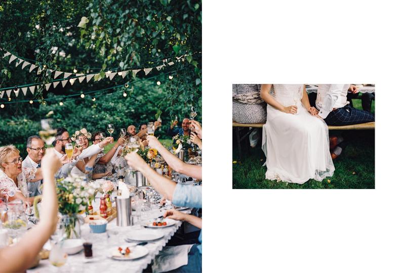 rustieke bohemian bruiloft buiten